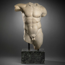 Roman Marble Torso of Herakles