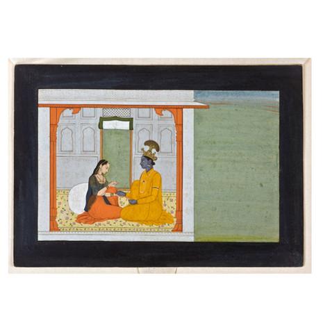 Krishna and Radha in a Pavilion The Dhira or Steadfast Heroine