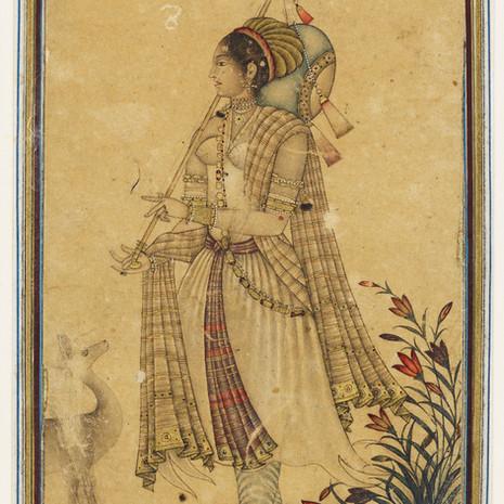 Lady Playing Tambur