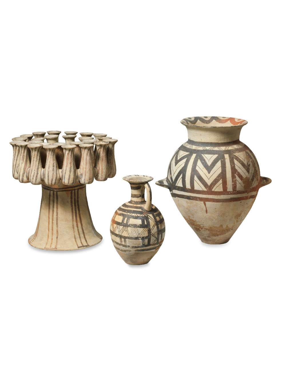 Three Cycladic Terracotta Vessels