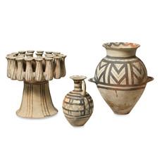 Three Cycladic Terracotta Vessels
