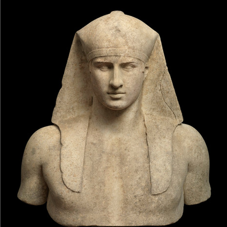 A Roman Marble Bust of Antinous Osirus