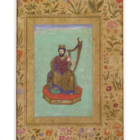 King David Playing a Harp