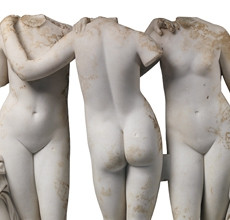 A Roman Marble Statue of the Three Graces