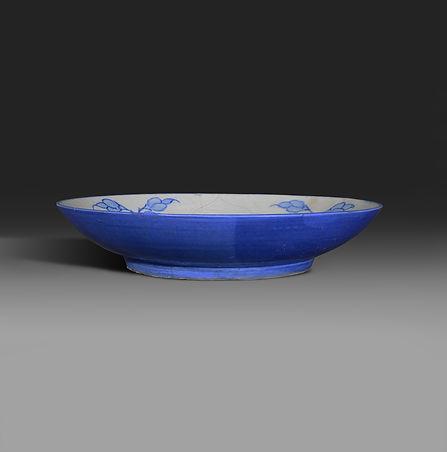 Cobalt-backed dish, side view.jpg
