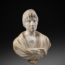 Roman Marble Female Bust, possibly Faustina the Elder