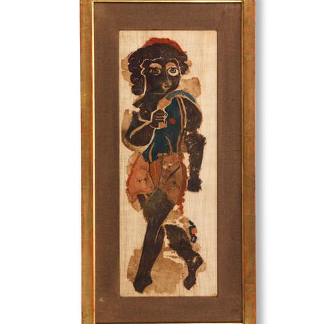 Egyptian Large Textile panel depicting a Bacchic Dancer