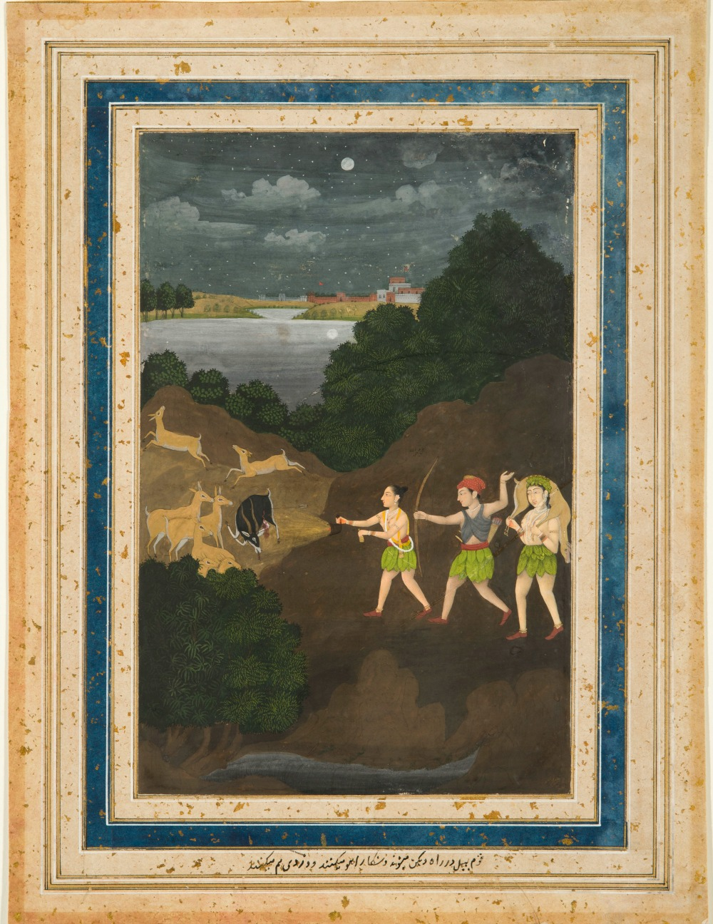 Bhils Hunting By Night