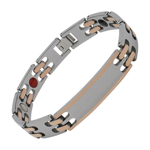 Men's Rose Gold Plasma-Cut Tungsten