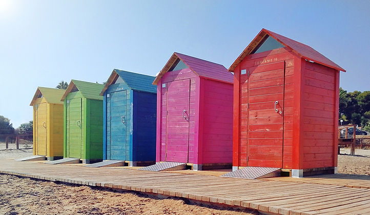 architecture-beach-booth-colorful-373328