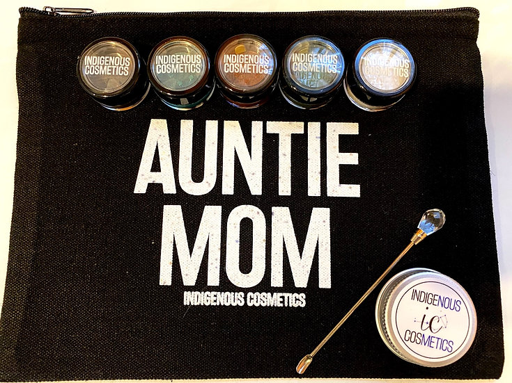 Auntie Mom Makeup Bag and Pigment Bundle