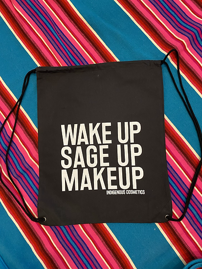 Wake Up Sage Up Makeup drawstring backpack