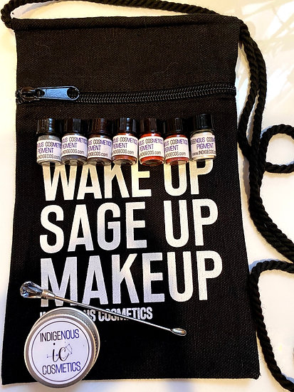 Wake Up Sage Up Makeup across body purse and pigment bundle