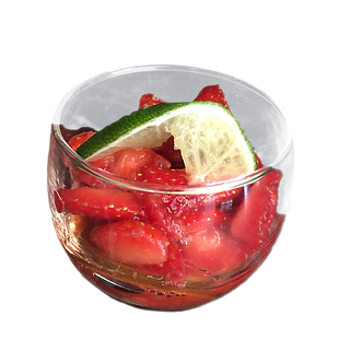 Coupe de fraise confiture Mojito