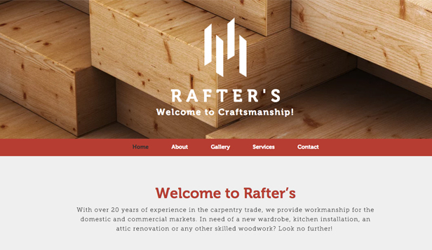 Business website templates – Carpenter
