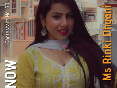 GNF Filmy Hunt 2021 : Contestant No. 60 : Ms Rinki Dhyani | Model & Actor