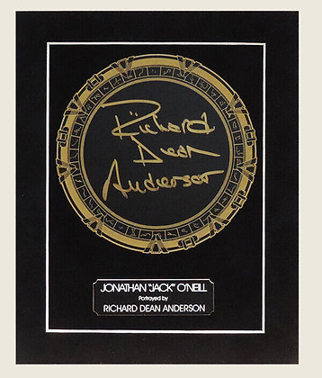 Tableau sans cadre (Porte des étoiles signé par Richard Dean Anderson)