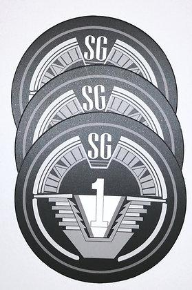 """Set de 3 dessous de verre """"Stargate SG-1"""""""