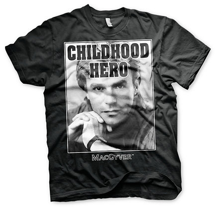 T-shirt MacGyver Childhood Hero