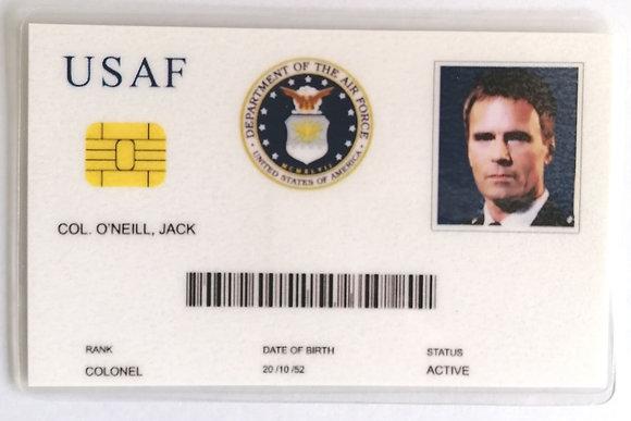 Carte identité Jack O'neill USAF