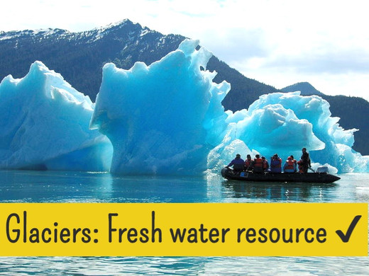 Glaciers, A source of fresh water!