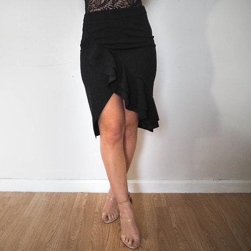 Frill Skirt - Black