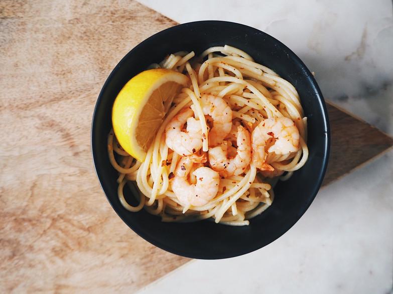 Health recipes - Chilli Prawns