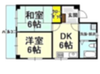 コーポ浅野岡山503号室間取り - コピー.JPG