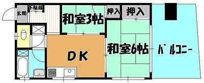 松本ビル 間取り 1DK(401).JPG
