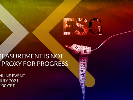 MEASUREMENT IS NOT A PROXY FOR PROGRESS