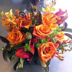 Orange monochromatic bouquet