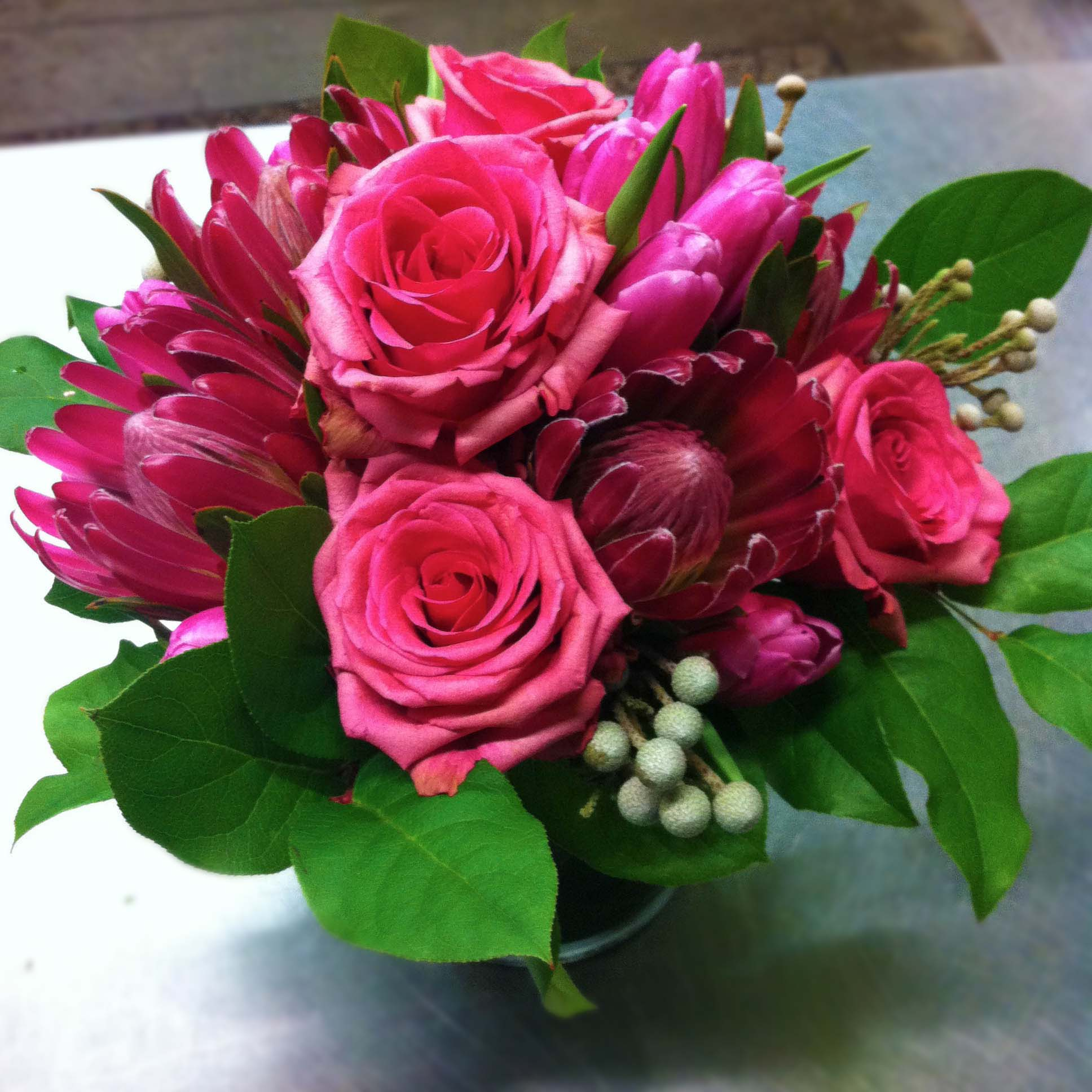 Pink Monochromatic arrangement