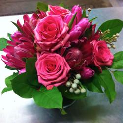 Pink Monochromatic arrangement