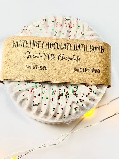White Hot Chocolate bath bomb
