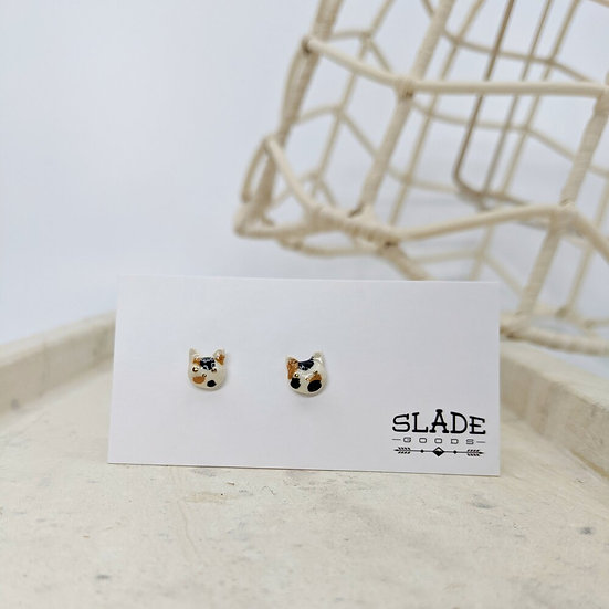 Slade Calico Kitty Earrings