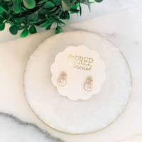 Snowman Enamel Earrings