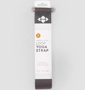 8' Loop Yoga strap charcoal