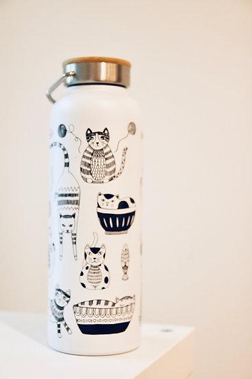 Danica Cat Water Bottle