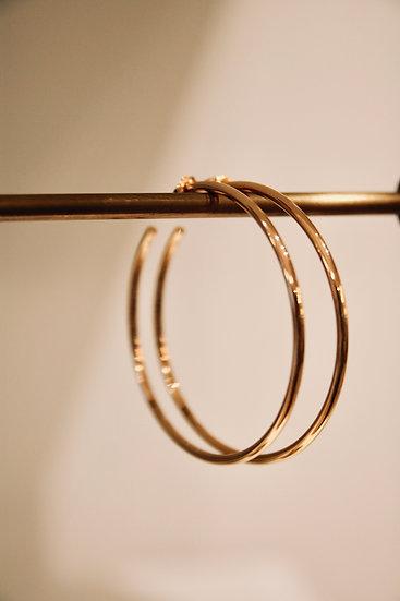 Melanie Auld Pave Gold Hoop