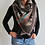 Thumbnail: beige/blk/blue/red Triangle Scarf