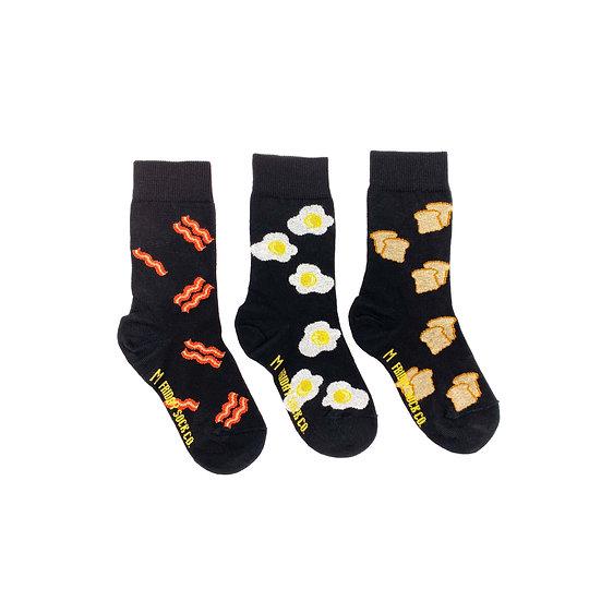 Friday Socks. Kids Bacon N' Eggs 5-7yr