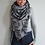 Thumbnail: Dark Grey/Blue Aztec triangle scarf