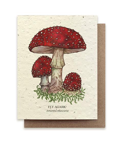 Fly Agaric mushroom Plantable card