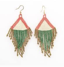 Lotus Beaded Earrings