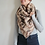 Thumbnail: beige & Brown Aztec triangle scarf