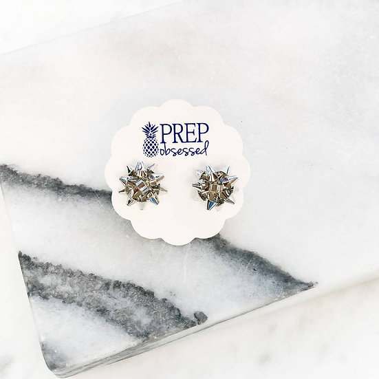 Bow Holiday earring silver