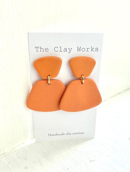 Mod earrings pumpkin