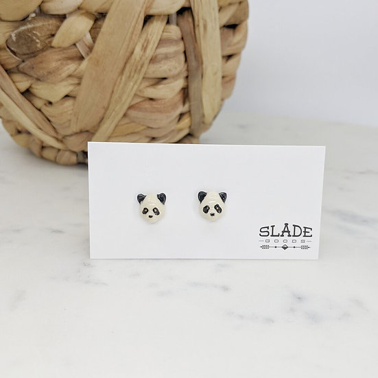 Slade Ceramic Panda earrings