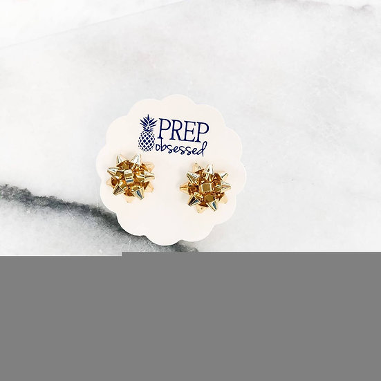Bow Holiday earring gold