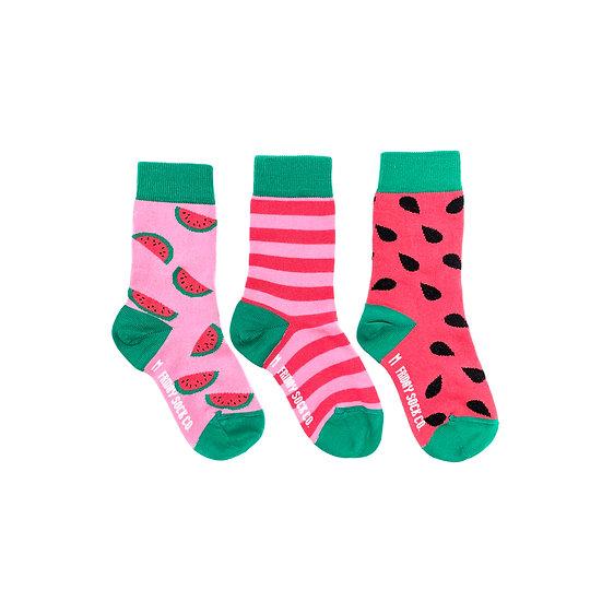 Friday Socks. Kids Watermelon